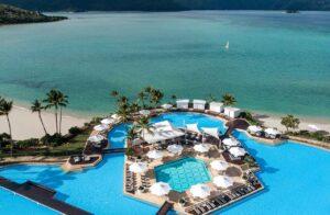 InterContinental Hayman Island Resort aerial shot.